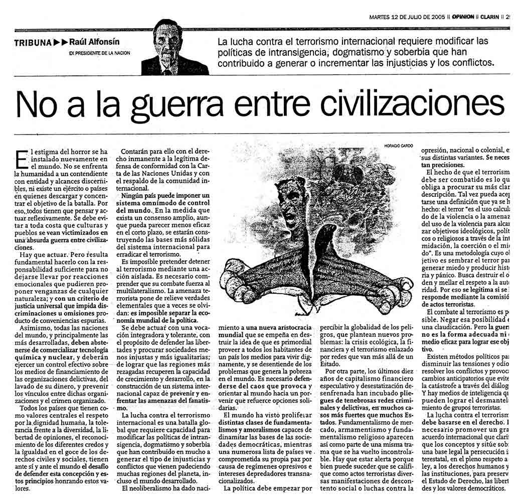No a la guerra entre civilizaciones